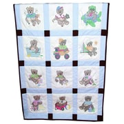 "Stamped Baby Quilt Blocks 9""X9"""
