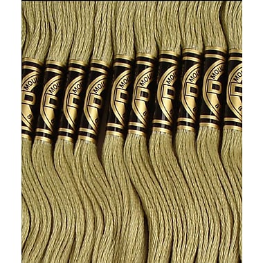 DMC Six Strand Embroidery Cotton, Light Khaki Green