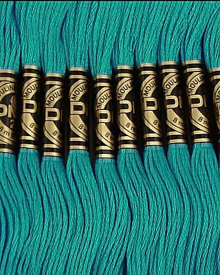 DMC Six Strand Embroidery Cotton, Dark Bright Turquoise