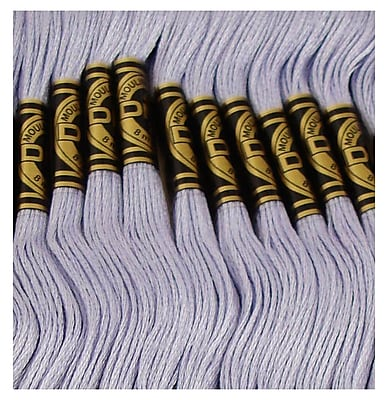 DMC Six Strand Embroidery Cotton, Light Grey Blue-New Family