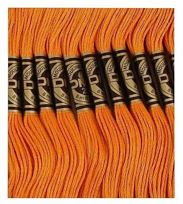 DMC Six Strand Embroidery Cotton, Dark Autumn Gold