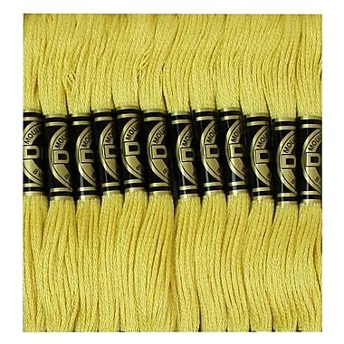 DMC Six Strand Embroidery Cotton, Light Straw