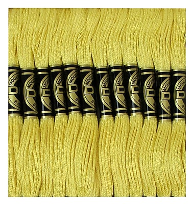 DMC Six Strand Embroidery Cotton, Light Straw