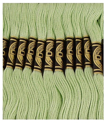 DMC Six Strand Embroidery Cotton, Very Light Pistachio Green