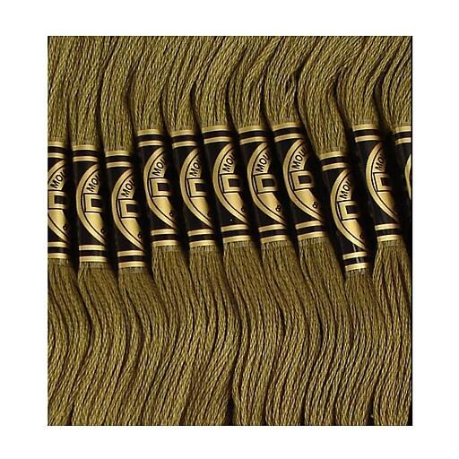 DMC Six Strand Embroidery Cotton, Dark Khaki Green