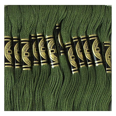 DMC Six Strand Embroidery Cotton, Dark Green Grey