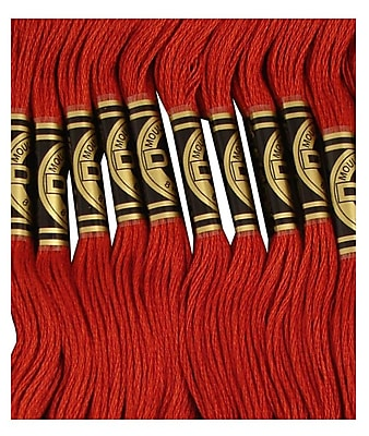 DMC Six Strand Embroidery Cotton, Very Dark Terra Cotta
