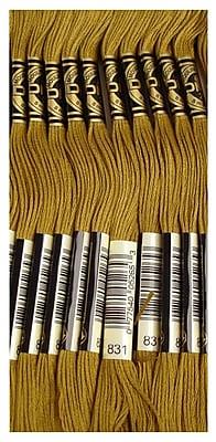 DMC Six Strand Embroidery Cotton, Medium Golden Olive