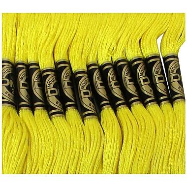 DMC Six Strand Embroidery Cotton, Lemon