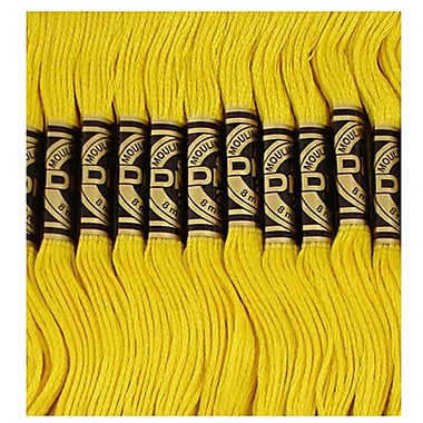 DMC Six Strand Embroidery Cotton, Dark Lemon