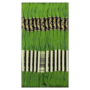 DMC Six Strand Embroidery Cotton, Light Avocado Green