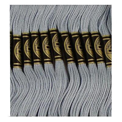 DMC Six Strand Embroidery Cotton, Very Light Antique Blue