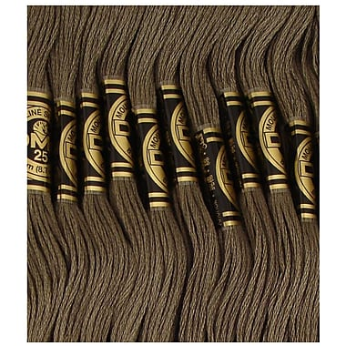DMC Six Strand Embroidery Cotton, Dark Brown Grey