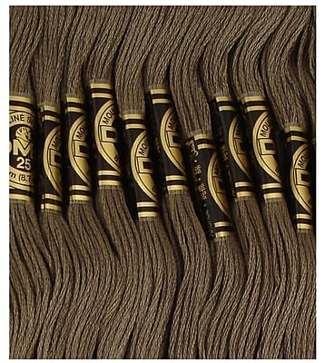 DMC Six Strand Embroidery Cotton, Dark Brown Grey