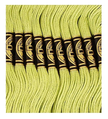 DMC Six Strand Embroidery Cotton, Ultra Light Avocado Green