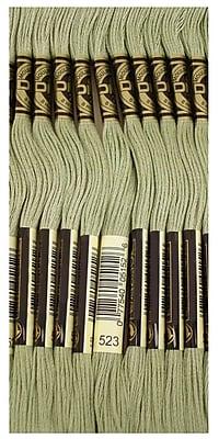 DMC Six Strand Embroidery Cotton, Light Fern Green