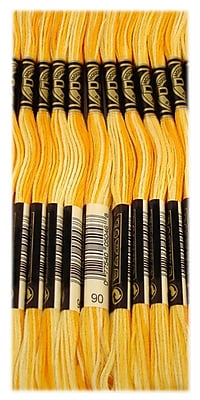 DMC Six Strand Embroidery Cotton, Variegated Yellow