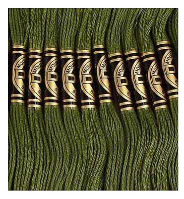 DMC Six Strand Embroidery Cotton, Medium Avocado Green