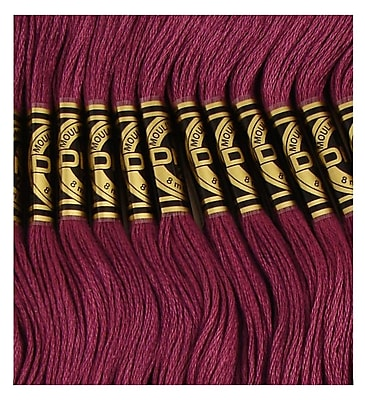 DMC Six Strand Embroidery Cotton, Very Dark Grape, Darker than 3834