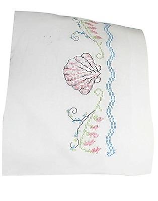 Seashells Pillowcase Pair Stamped Cross Stitch, 20