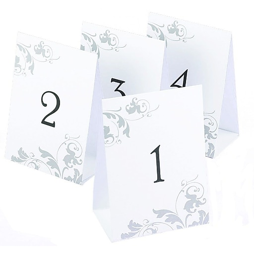 hbh table number tents 1 40 staples