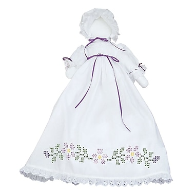 Stamped White Pillowcase Doll Kit, Starflowers