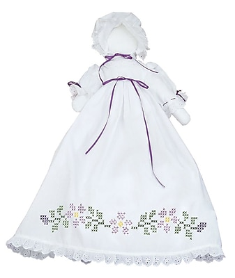Stamped White Pillowcase Doll Kit, Starflowers