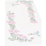 """Stamped Table Runner/Scarf 15""""X42"""""""