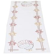 """Stamped Table Runner/Scarf 15""""X42"""", Thanksgiving"""