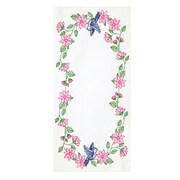 """Stamped Table Runner/Scarf 15""""X42"""", Bird"""