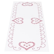 """Stamped Table Runner/Scarf 15""""X42"""", Valentine's Day"""