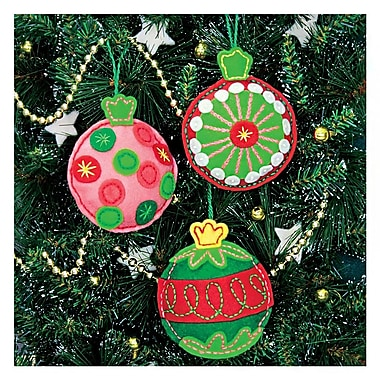 Simple Cheer Ornaments Felt Applique Kit, 4