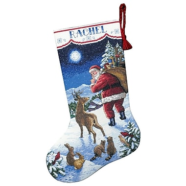 Santa's Arrival Stocking Counted Cross Stitch Kit, 16
