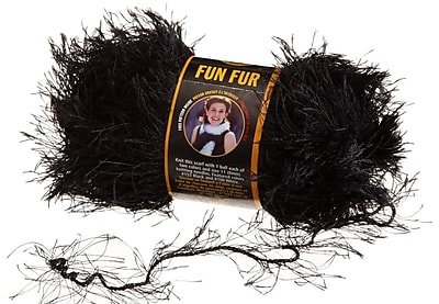 Fun Fur Yarn, Black