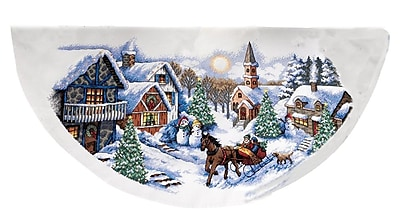 Sleigh Ride Tree Skirt Counted Cross Stitch Kit, 45