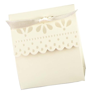 HBH™ Scalloped-Edge Favor Boxes, Ivory