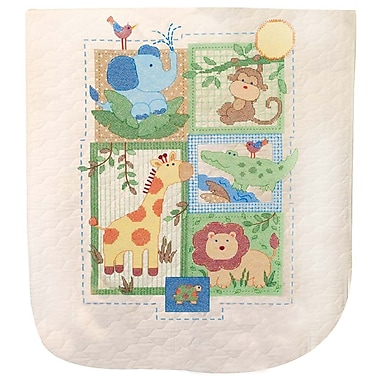 Baby Hugs Savannah Quilt Stamped Cross Stitch Kit, 34