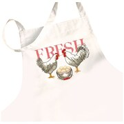 Rooster Apron Stamped Cross Stitch