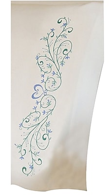 Filigree Scroll Pillowcase Pair Stamped Embroidery, 20