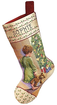 Christmas Morning Stocking Counted Cross Stitch Kit, 18