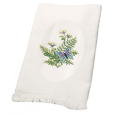 Botanical Butterflies Guest Towels Stamped Embroidery, 16