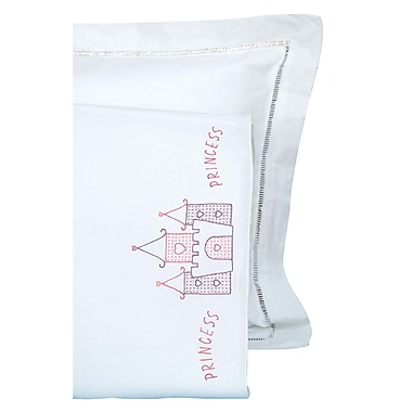Children's Stamped Pillowcase With White Perle Edge