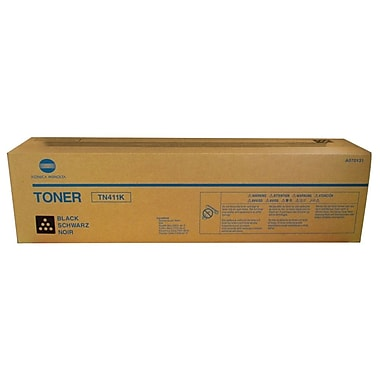 Konica Minolta TN-411K Black Toner Cartridge (A070131), High Yield