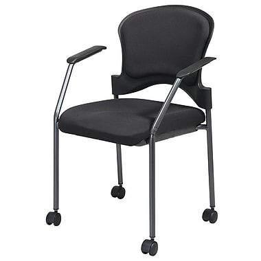 Office Star Proline II® Fabric Rolling Guest Chair, Navy