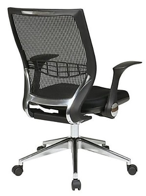 Office Star Mesh ProGrid® Back Manager Chair with Flip Arms , Black