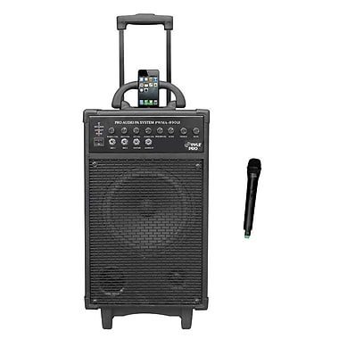 Pyle® PWMA860I VHF Wireless Portable PA System /Echo W/iPod Dock, 500 W