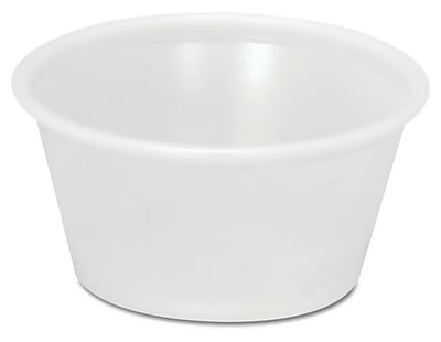 Boardwalk YS-200 Plastic Souffle Portion Cup, Translucent, 2 oz. 150079