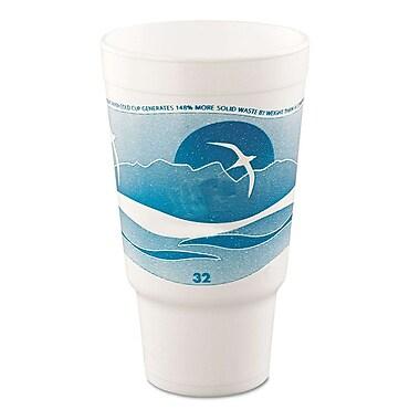 Dart® 32AJ20H Big Drink Cup, 32 oz. Teal/White, 400/Case
