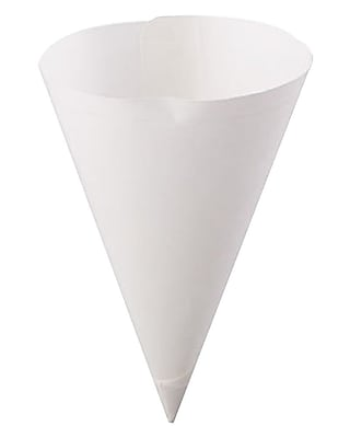 Konie Straight-Edge Paper Cone Cups, 7oz, White, 250/bag, 5000/carton