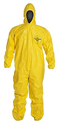 Dupont™ Tychem® QC127S Light Splash Protective Coverall, Yellow, Large